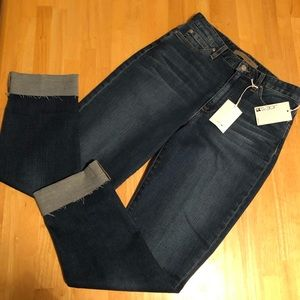 Joe's jeans Debbie high rise straight cuff jeans